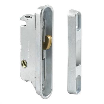 Picture of E 2487 - Mortise Lock, 3-9/16 inch mounting holes, Steel/Diecast, 45 Degree  Keyway, Round Face Pack of 1