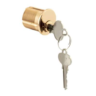 Picture of E 2562 - Mortise Cylinder, 1-1/4 inch, Solid Polished Brass, 5 Pin Tumbler, Pack of 1
