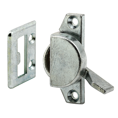 Picture of F 2508 - Sliding Window Sash Lock and Keeper, 1-3/4 inch Hole centers, Diecast, Zinc, Pack of 1