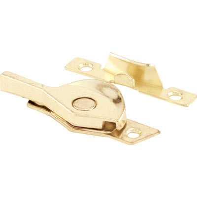 Picture of F 2587 - Sash Lock, Die cast Sweep, 1-7/8 inch Hole Centers, Brass plated