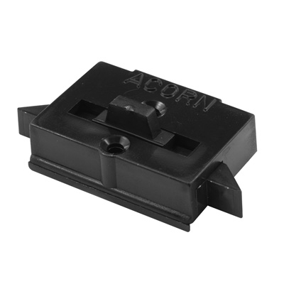 Picture of F 2645 - Tilt Latch, Spring Loaded, Black Plastic, 9/16 inch Hole Centers, Pack 1