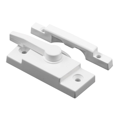 Picture of F 2667 - Window Sash Lock, Vinyl composite material, White 2-1/16 inch Hole Centers, Pack of 1