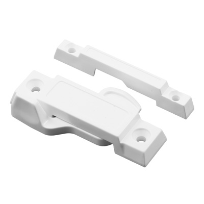Picture of F 2673 - Window Sash Lock, Vinyl composite material, White 2-1/4 inch Hole Centers, Pack of 1