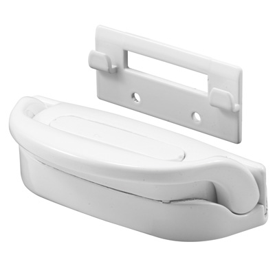 Picture of F 2740 - Handle and Keeper, Diecast, White, Slam Latching Function,  3-3/8 inches in Length, Pack of 1