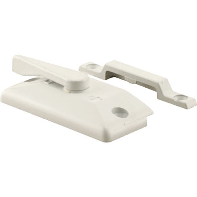 Picture of F 2741 - Window Sash Lock with Keeper, Diecast, White Finish, 2-1/4 inch Hole Centers,