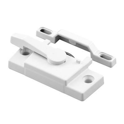 Picture of F 2744 - Vinyl Window Sash Lock with Keeper, Diecast, White Finish, 2-1/4 inch Hole Centers, Pack of 1