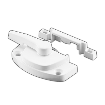 Picture of F 2754 - Vinyl Window Sash Lock with Keeper, Diecast, White Finish, 1-7/8 inch Hole Centers, Pack of 1