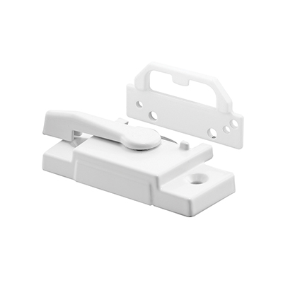 Picture of F 2755 - Vinyl Window Sash Lock, with Keeper, Diecast, White Enamel Finish, Pack of 1