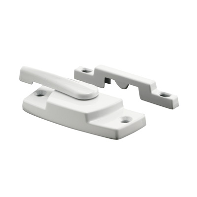 Picture of F 2768 - Vinyl Window Sash Lock, with Keeper, Diecast, White Enamel Finish, Pack of 1