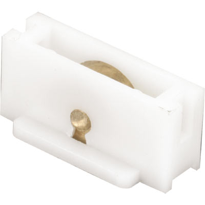 """Picture of G 3122 - Roller assembly, 3/8"""", Brass, Flat Edge"""