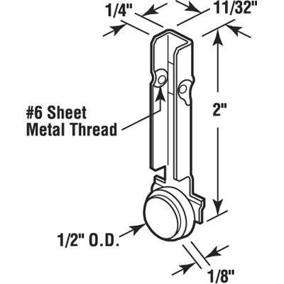 Picture of G 3156 - Roller Assembly  (Brass Roller)