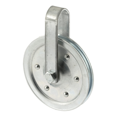 """Picture of GD 52108 - Pulley With Strap And Axle Bolt (4"""" Diameter)"""