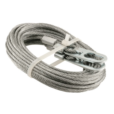 """Picture of GD 52262 - Extension Spring Cables, 1/8"""" Galvanized Carbon Steel"""