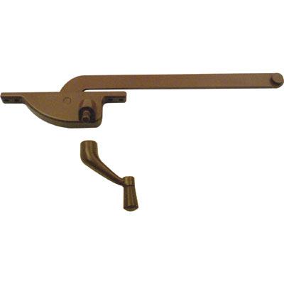 Picture of H 3505 - Casement Window Operator, LH, Teardrop Body, Bronze, 9 inch Arm, 1 per pkg.