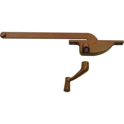 Picture of H 3509 - Casement Window Operator, RH, Teardrop Body, Bronze, 7 inch Arm, 1 per pkg.