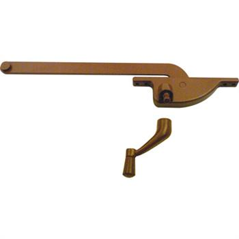 Picture of H 3510 - Casement Window Operator, RH, Teardrop Body, Bronze, 8 inch Arm, 1 per pkg.