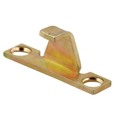 Picture of H 3574 - Casement Lock Keeper, Stamped Steel, Gold Irridite Finish, 1 per pkg.