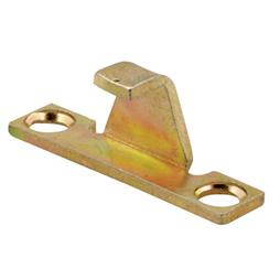 Picture of H 3574 - Casement Lock Keeper, Stamped Steel, Gold Irridite Finish, 1 per pkg.