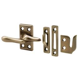 Picture of H 3683 - Casement Lock, Antique Brass, 3 Keepers, Screws, 1 set per pkg.