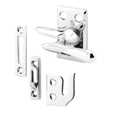 Picture of H 3684 - Casement Lock, Chrome, 3 Keepers, Screws, 1 set per pkg.