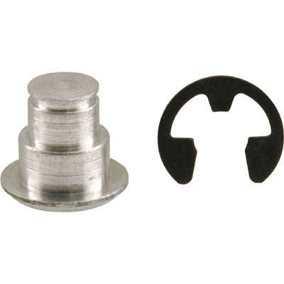 Picture of H 3690 - Jalousie or Awning Link  Grooved Pin & E Clip, 1/4 Inch, 4 each per pkg.