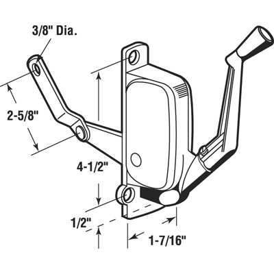 Picture of H 3839 - Andersen Awning Operator, Gray, LH, 2-5/8 inch Offset Link, 1 per pkg.