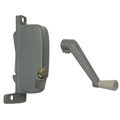 Picture of H 3842 - HarcarAwning Operator, Gray, RH, 2-1/2 inch Offset Link, 1 per pkg.