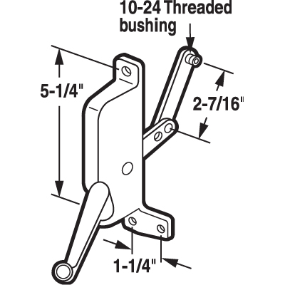Picture of H 3861 - T.M. Awning Operator, Gray, LH, 2-7/16 inch Link, 1 per pkg.