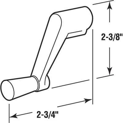 Picture of H 4002 - Andersen Crank Handle, Bronze, Diecast,  per pkg.