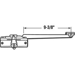 Picture of H 4012 - Andersen Operator & Track, LH, 9-3/8 inch Arm, Stone, 1 per pkg.