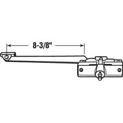 Picture of H 4018 - Andersen Casement Operator, RH, 8-3/8 inch Arm, Stone, 1 per pkg.