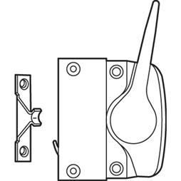 Picture of H 4025 - Vinyl or Wood Casement  Lock, Bronze, Left Hand, 1 per pkg.