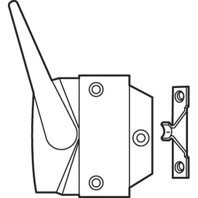 Picture of H 4023 - Vinyl or Wood Casement  Lock, Bronze, Left Hand, 1 per pkg.