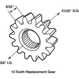 """Picture of H 4032 - WINDOW REPLACEMENT DRIVE GEAR, 1"""", CRESTLINE"""