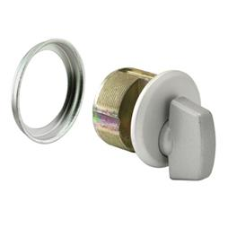 "Picture of J 4530 - Mortise Thumbturn Cylinder, 1"", Cast Zamac, Aluminum Finish"