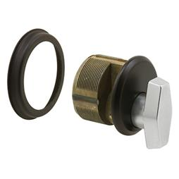 "Picture of J 4531 - Mortise Thumbturn Cylinder, 1"", Cast Zamac, Bronze"