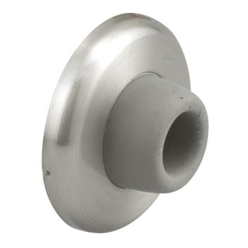 J 4540 Wall Door Stop Brushed Stainless Rubber Bumper