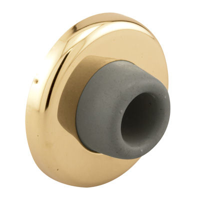 Picture of J 4553 - Wall Door Stop, Polished Brass, Rubber Bumper, Pack of 1