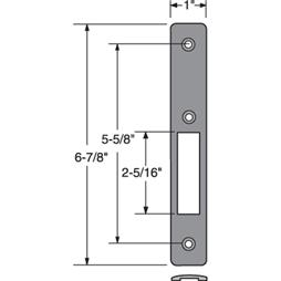 Picture of J 4560 - Faceplate for Commercial Door Lock, Aluminum Finish, Fasteners, Pack of 1