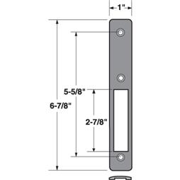 Picture of J 4576 - Faceplate for  Commercial Door Lock, Aluminum Finish, Fasteners, Pack of 1