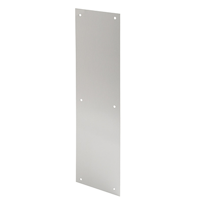 Picture of J 4581 - Door Push Plate, Satin Aluminum, 4 X 16 inches, Fasteners Included, Pack of 1
