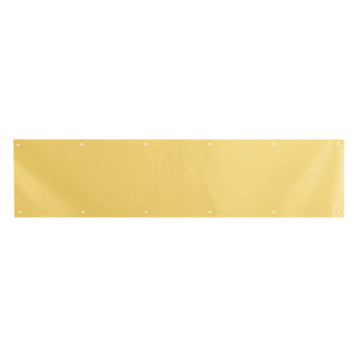Picture of J 4618 - 8 in. x 34 in. Bright Brass on Aluminum Door Kick Plate