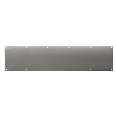Picture of J 4619 - Kick Plate, Stainless Steel 8 X 34 inches, Pre-Punched Mounting holes, Pack of 1