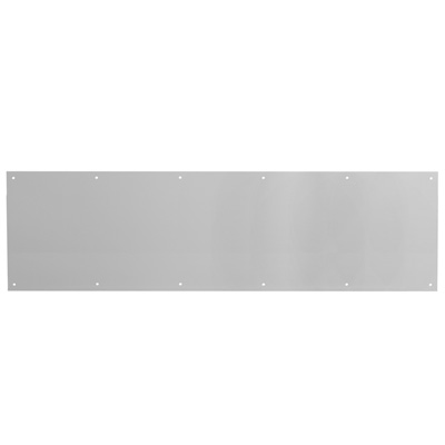 Picture of J 4620 - Kick Plate, Satin  Aluminum, 1 X 34 inches, Pre-Punched Mounting holes, Pack of 1