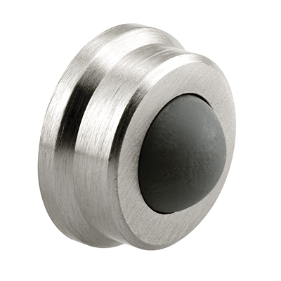 Picture of J 4647 - Wall Door Stop, 1 inch Diameter, Brushed Chrome, Rubber Bumper, Pack of 1