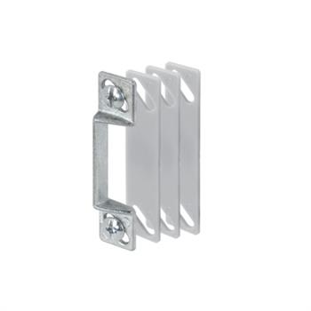Picture of K 5009 - Rigid Strike Plate, Aluminum  Finish, Shims, Fasteners, Pack of 1
