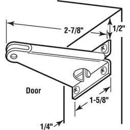 Picture of K 5234 - Screen Door Closer Jamb  Bracket, White, Side Mount, Stamped Steel, Pack of 1