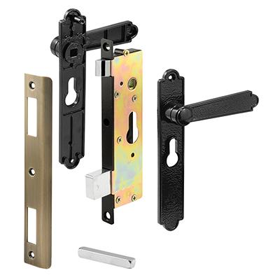 """Picture of K 5057 - Security Door Mortise Lock, 6-3/4"""" HC, Black"""