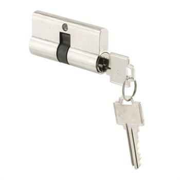 Picture of K 5061 - Storm or Screen door  Mortise Double Lock Cylinder, Chrome, Kwikset keyway, Pack of 1