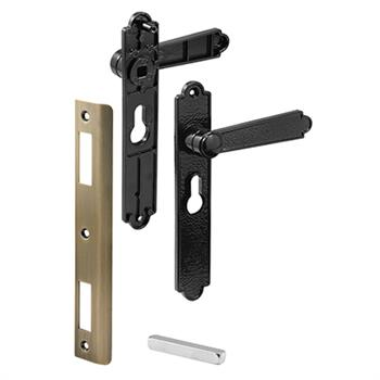 Picture of K 5063 - Security Screen or Storm Door Lever Set, Black Dimpled, Pack of 1